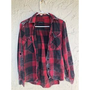 ZARA red flannel size small